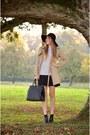 Black-ccc-boots-striped-vila-dress-trench-coat-vero-moda-coat