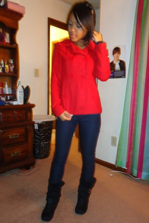 red peacoat Charlotte Russe jacket - Forever 21 accessories