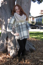 army green lace-up Forever New boots - heather gray check Forever New coat - lig
