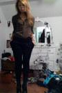 Zoe-sam-edelman-boots-delias-tights-forever-21-shorts-papaya-blouse