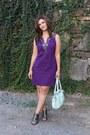 Purple-ny-co-dress-aquamarine-charming-charlies-bag-silver-dolce-vita-heels