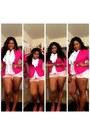 Hot-pink-comfy-thrifted-blazer-light-pink-denim-pac-sun-shorts