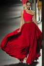 Red-lanvin-dress-red-brown-green