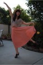 Light-pink-h-m-skirt-nude-boutique-hat