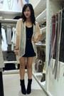 Beige-lace-dejavu-cardigan-black-ann-taylor-boots-black-pleated-kirra-skirt