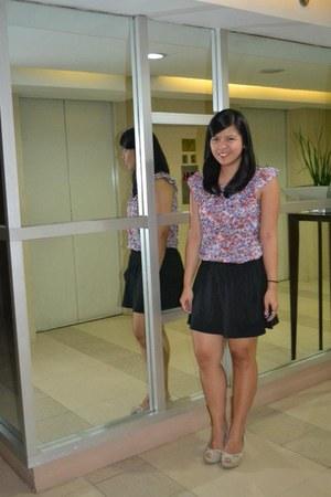 Topshop blouse - black 168 mall skirt