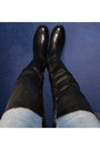 Blue-h-m-jeans-black-overknee-jenny-fairy-for-ccc-boots