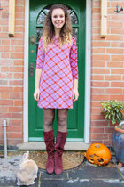 vintage boots - unknown dress