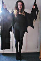black American Apparel pants - black Topshop heels - black black top H&M top