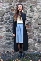 maxi cardigan vintage coat - chelsea new look boots - roll neck vintage sweater