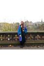 Chelsea-new-look-boots-sweater-vintage-dress-blue-suede-vintage-coat