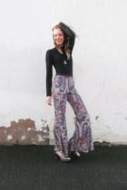 silver pembury asos heels - Waiste necklace - Ette pants - roll neck Zara top