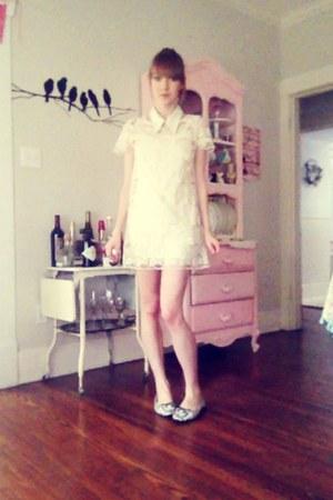 white Forever 21 dress - white Miu Miu accessories
