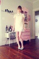 white Forever 21 dress - white Miu Miu accessories