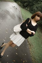 black American Apparel sweater - ivory American Apparel skirt