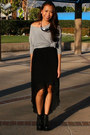 Dark-gray-mono-b-skirt