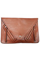 tawny envelope clutch unbranded bag