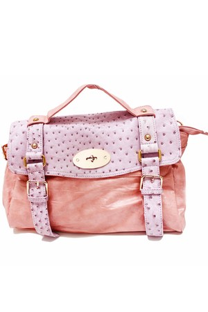 light pink ostrich unbranded bag