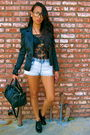 Black-forever-21-blazer-blue-h-m-shorts-black-h-m-top-black-payless-shoes-
