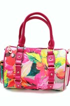 Hot-pink-floral-unbranded-bag