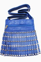 blue fringe unbranded bag