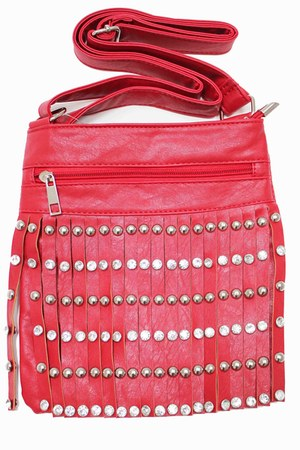 red fringe unbranded bag