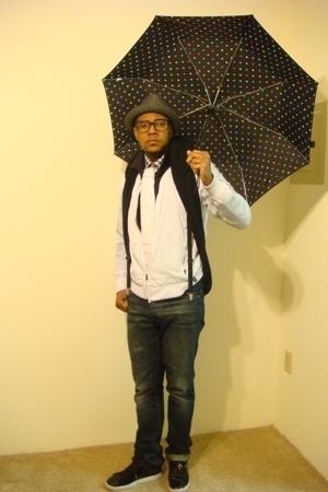 G-Star jacket - Reiss shirt - Flippia K scarf