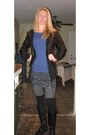 Boots-socks-skirt-black-knit-vest-vest-grey-textured-stockings