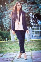 black Zara blazer - black Zara panties