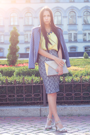Topshop blazer - new look bag - Zara necklace