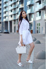 White-sundry-dress-white-zara-sandals