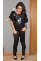 black H&M top - black Charlotte Russe pants - black Steve Madden shoes - black C