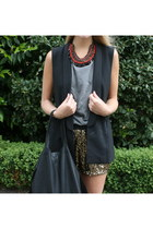 black sleeveless Blazer blazer