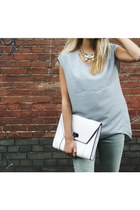 white leather nastygal bag