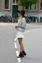 heather gray blouse