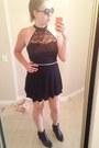 Black-lacesheer-forever-21-top-dark-gray-skirt