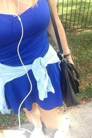 blue Bluenotes dress - white Payless shoes - light blue Old Navy shirt