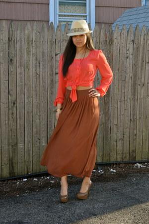 Forever21 hat - Forever21 blouse - Forever21 skirt