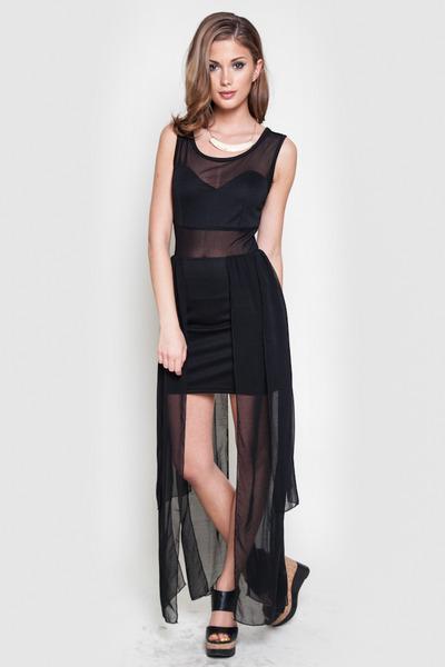 sheer accent dress