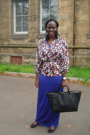 kimono Topshop blouse - maxi warehouse dress - shopper Zara bag