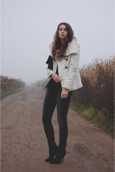 leather Zara boots - wool Zara coat