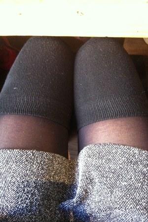 black knitwear socks Accessorize socks