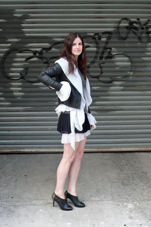 Old Navy jacket - La Perla sweater - iisli dress - vintage skirt - Steve Madden 