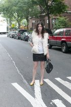 H&M skirt - vintage shirt - Jcrew vest - loeffler randall shoes - lanvin purse