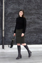 ann demeulemeester boots - Marc by Marc Jacobs sweater - balenciaga bag - nicole