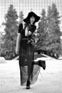 Black-wool-floppy-hat-american-apparel-hat-black-vintage-skirt-black-jersey-