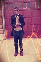 shirt thrifted CHAPEL HILL shirt - 24 Apt9 boots - 90peacoat Marc Anthony coat