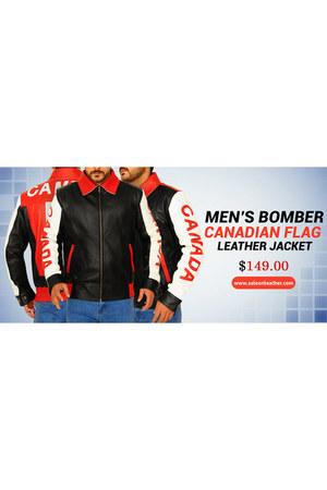 red leather jacket - black leather jacket - white leather jacket