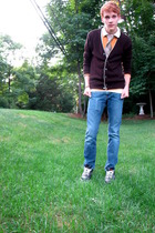 f21 sweater - PRoyal sweater - American Eagle shirt - Bullhead jeans - nike shoe