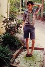 Blue-vintage-shirt-blue-h-m-shorts-brown-gh-bass-co-shoes